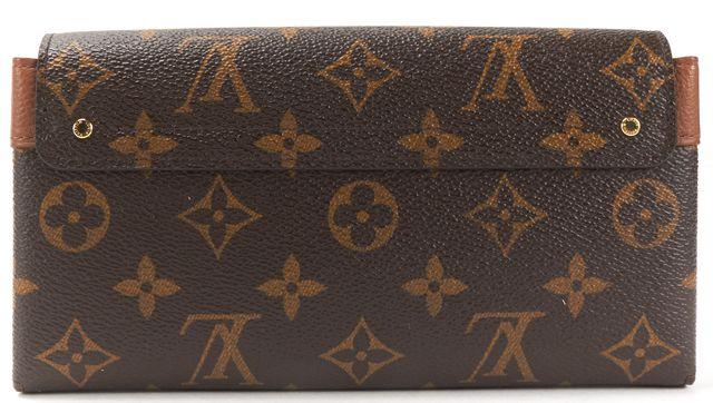 LOUIS VUITTON Brown Monogram Canvas Elysee Long Wallet