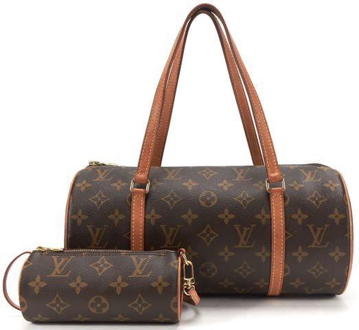 LOUIS VUITTON Brown Monogram Canvas Papillon 30 Shoulder Handbag