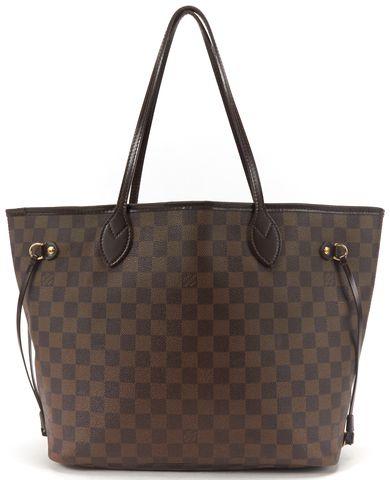 LOUIS VUITTON Brown Damier Ebene Canvas Neverfull PM Tote Handbag