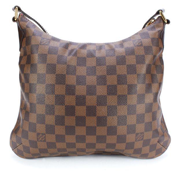 LOUIS VUITTON Brown Coated Canvas Damier Ebene Bloomsbury PM Crossbody Bag