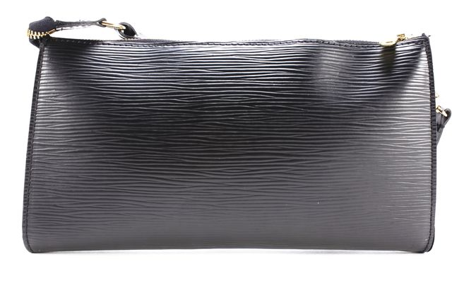 LOUIS VUITTON Black Epi Leather Pochette Shoulder Bag