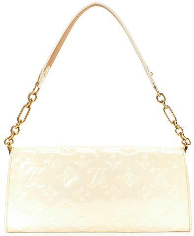 LOUIS VUITTON Pearl Vernice Leather Flap Shoulder Bag