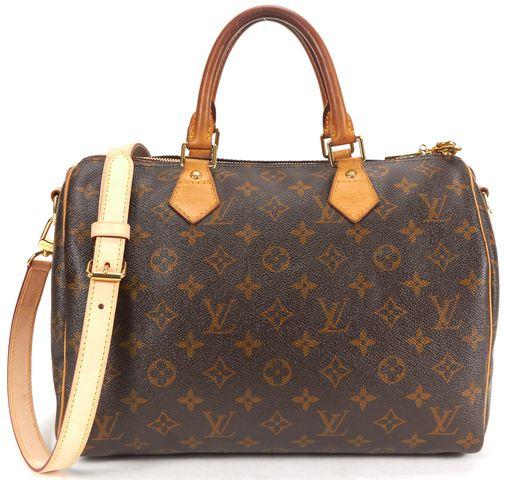 LOUIS VUITTON Brown Monogram Speedy Bandouliere 30 Top Handle Crossbody Handbag