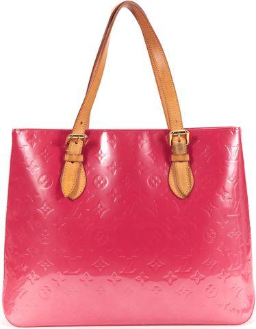 LOUIS VUITTON Framboise Vernis Brentwood Top Handle Bag