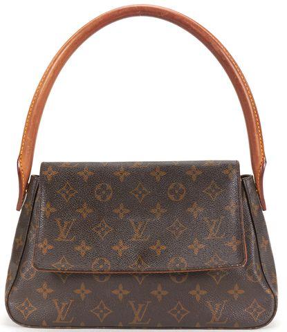 LOUIS VUITTON Brown Monogram Canvas Mini Loop Shoulder Bag