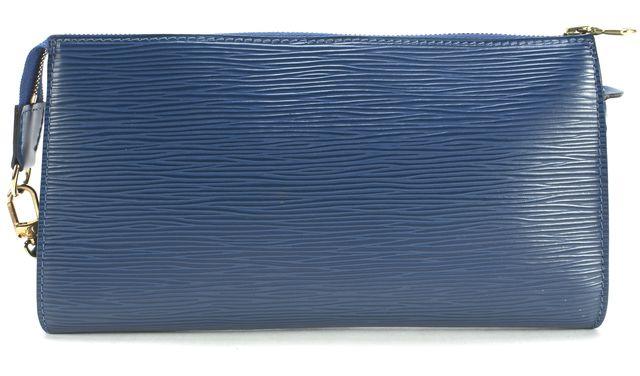 LOUIS VUITTON Toledo Blue Epi Leather Clutch