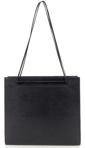 """LOUIS VUITTON Black Epi Leather """"Saint Tropez"""" Thin Strap Shoulder Bag"""