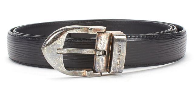 LOUIS VUITTON Black Epi Leather Belt