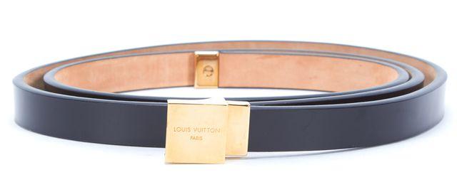 LOUIS VUITTON Black Leather Belt