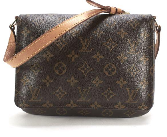 LOUIS VUITTON Brown Monogram Canvas Thompson Fold Over Flap Shoulder Bag