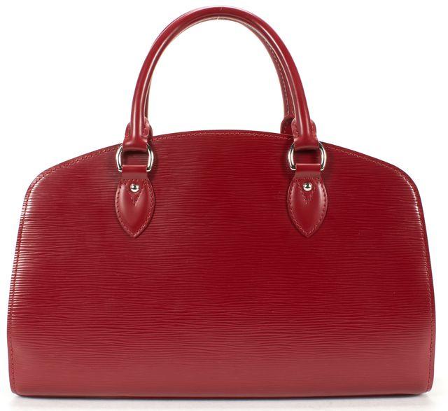 LOUIS VUITTON Red Epi Leather Pont-Neuf PM Top Handle Satchel Bag