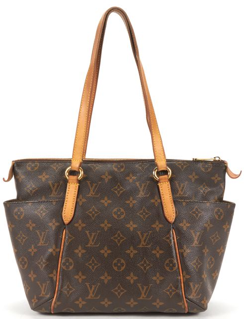 LOUIS VUITTON Brown Monogram Canvas Totally MM Tote Shoulder Bag
