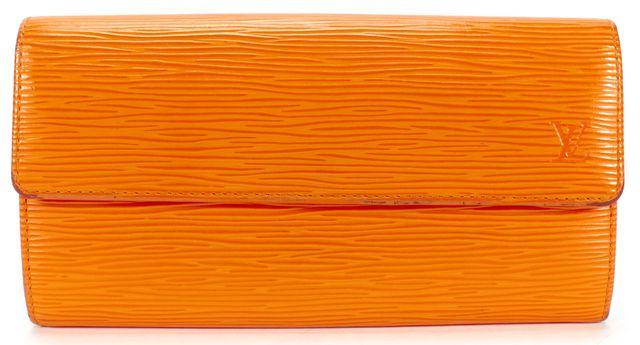 LOUIS VUITTON Orange Epi Leather Portemonnaie Wallet
