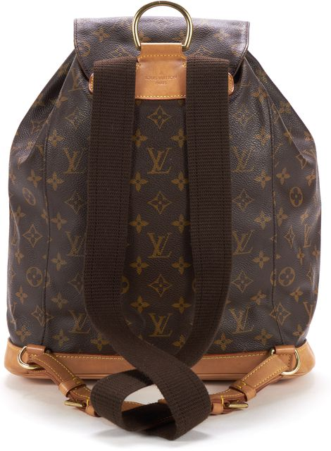 LOUIS VUITTON Brown Monogram Montsouris GM Backpack Bag