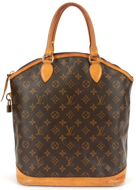 LOUIS VUITTON Brown Monogram Canvas Lockit Convertible Top Handle Bag