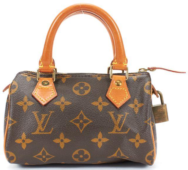 LOUIS VUITTON Brown Monogram Coated Canvas Mini Speedy Top Handle Bag