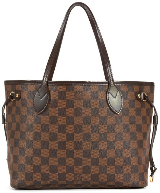 LOUIS VUITTON Brown Damier Ebene PM Neverfull Tote Shoulder Bag
