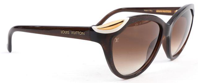 LOUIS VUITTON Brown Glitter Acetate Frame Gradient Lens Sunglasses