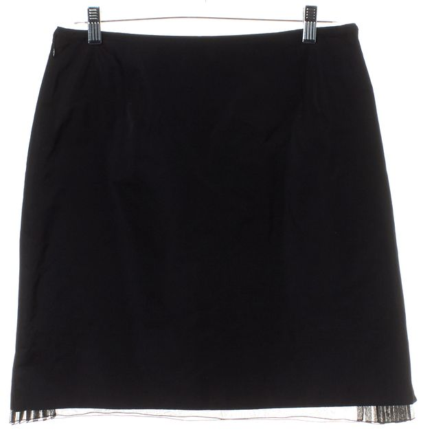 LOUIS VUITTON Black Pleated Layer A-Line Skirt