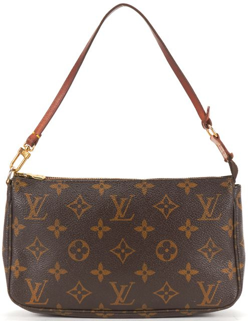 LOUIS VUITTON Brown Monogram Canvas Pochette Shoulder Bag