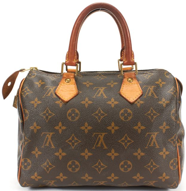 LOUIS VUITTON Brown Monogram Coated Canvas Speedy 30 Top Handle Bag