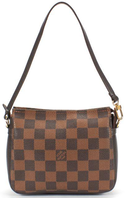 LOUIS VUITTON Brown Damier Ebene Canvas Trousse Mini Pochette Bag