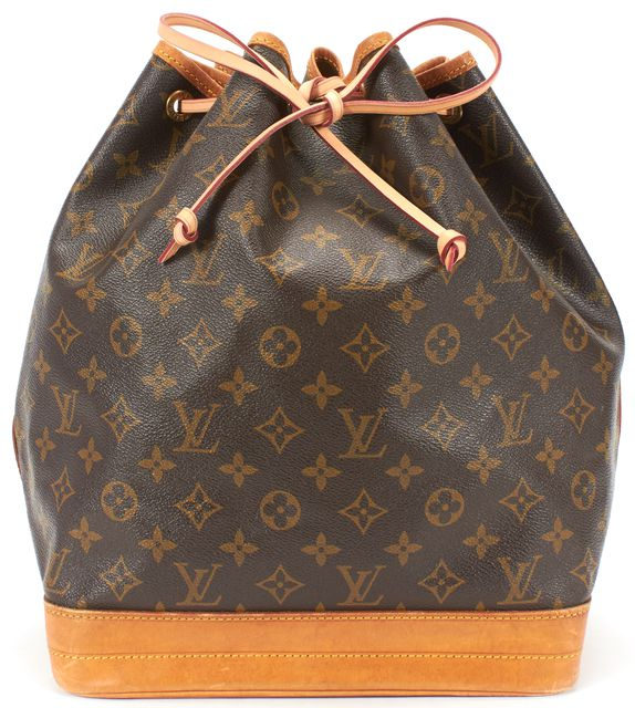 LOUIS VUITTON Brown Monogram Canvas Noe GM Shoulder Bag