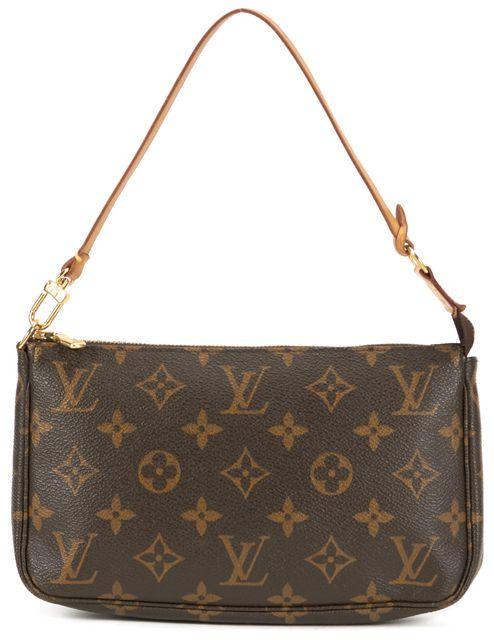 LOUIS VUITTON Brown Monogram Canvas Pochette Shoulder Bag