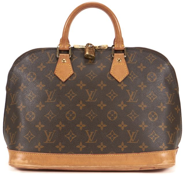 LOUIS VUITTON Brown Monogram Canvas Alma PM Top Handle Bag