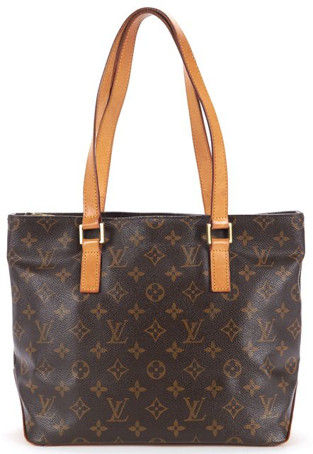 LOUIS VUITTON Brown Monogram Canvas Cabas Piano Shoulder Tote Handbag
