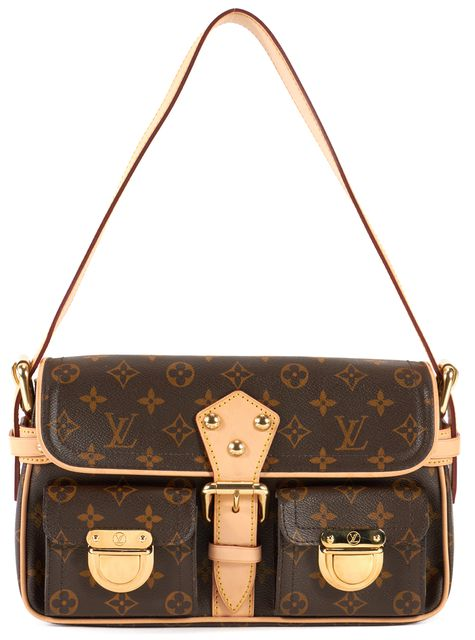 LOUIS VUITTON Brown Monogram Canvas Hudson PM Shoulder Bag