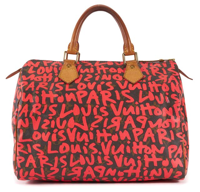 LOUIS VUITTON Limited Edition Pink Stephen Sprouse Graffiti Speedy 30