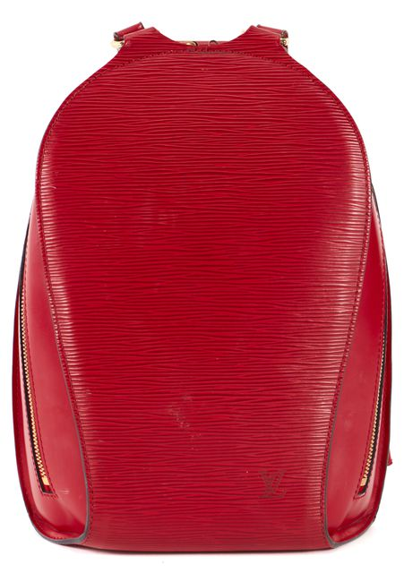 LOUIS VUITTON Red Epi Leather Backpack with Clutch