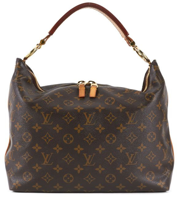 LOUIS VUITTON Brown Monogram Coated Canvas Sully Shoulder Bag