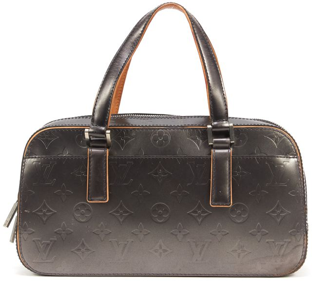 LOUIS VUITTON Gray Vernis Monogram Shelton Mat Noir Satchel