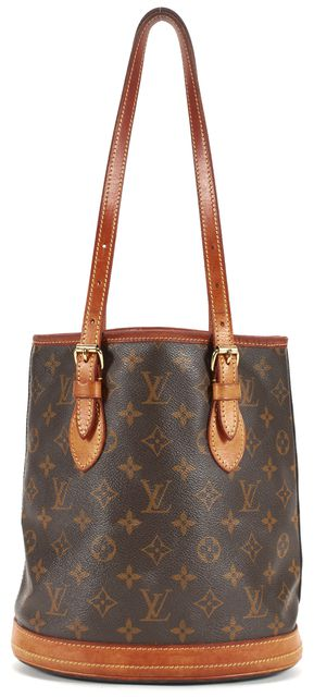 LOUIS VUITTON Brown Monogram Bucket Tote