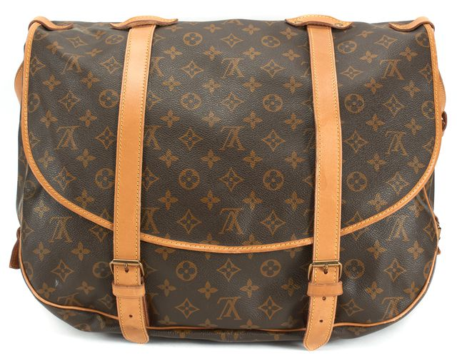 LOUIS VUITTON Brown Monogram Coated Canvas Malletier Saumur 43 Shoulder Bag