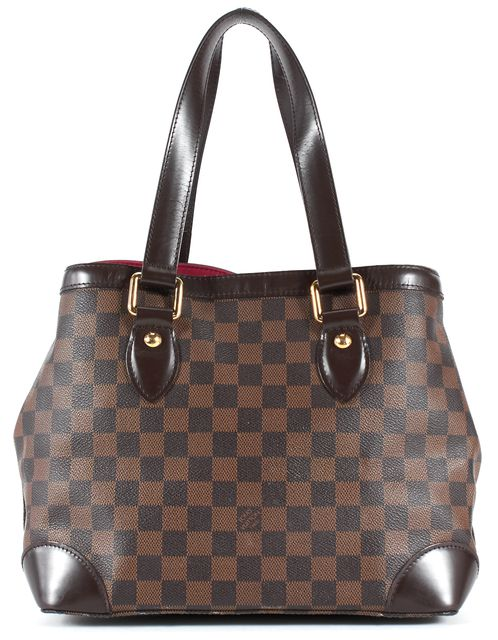 LOUIS VUITTON Brown Damier Ebene Coated Canvas Hampstead MM Shoulder Bag