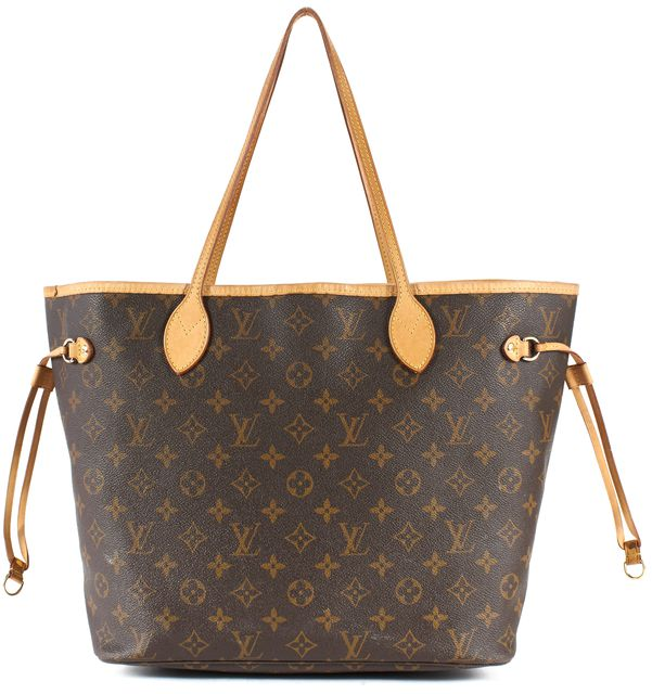 LOUIS VUITTON Brown Monogram Coated Canvas Neverfull MM Tote
