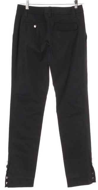 LOUIS VUITTON Black Button Cuff Dress Pants
