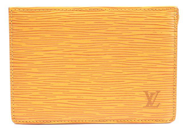 LOUIS VUITTON Tassil Yellow Epi Leather Toiletry Pouch