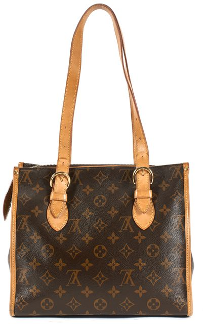 LOUIS VUITTON Brown Monogram Canvas Popincourt Haut Leather Tote Bag