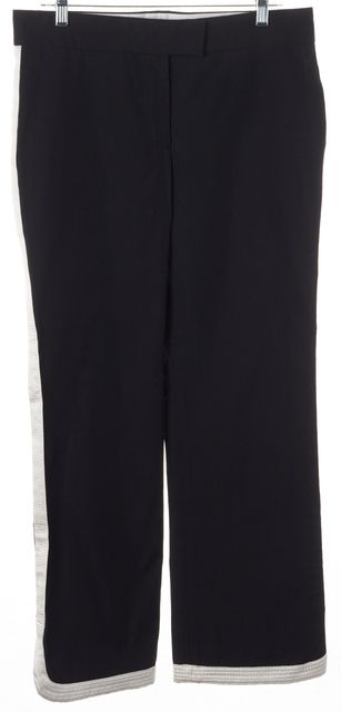 LOUIS VUITTON Black White Tuxedo Stripe Trouser Dress Pants