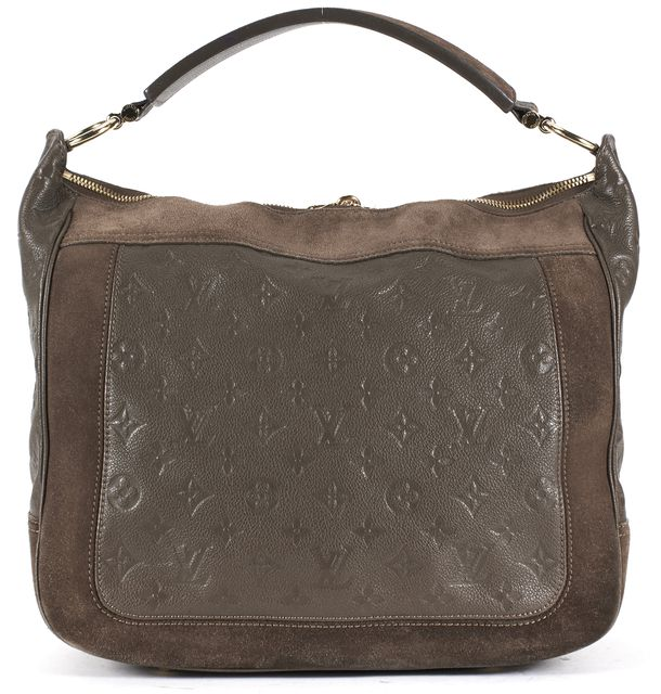LOUIS VUITTON Brown Empriente Leather Suede Audacieuse MM Shoulder Bag
