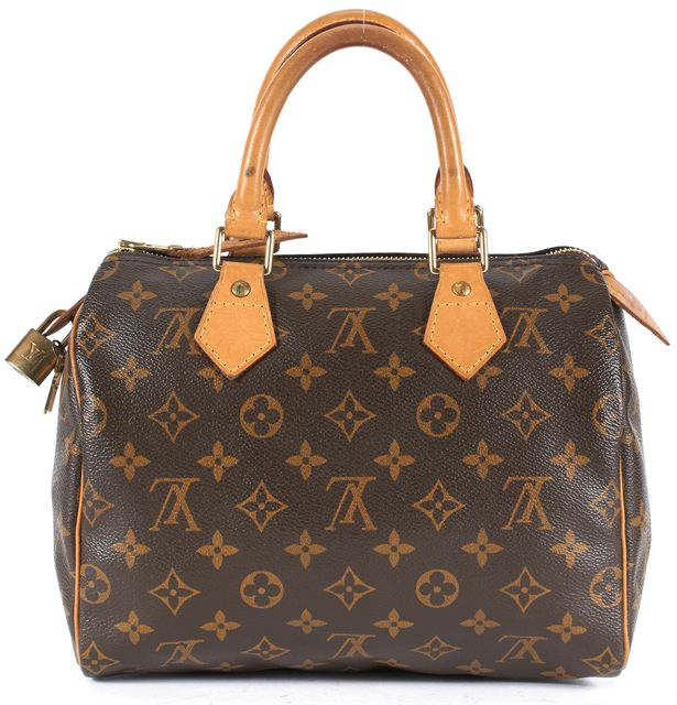 LOUIS VUITTON Brown Monogram Canvas Speedy 25 Top Handle Bag