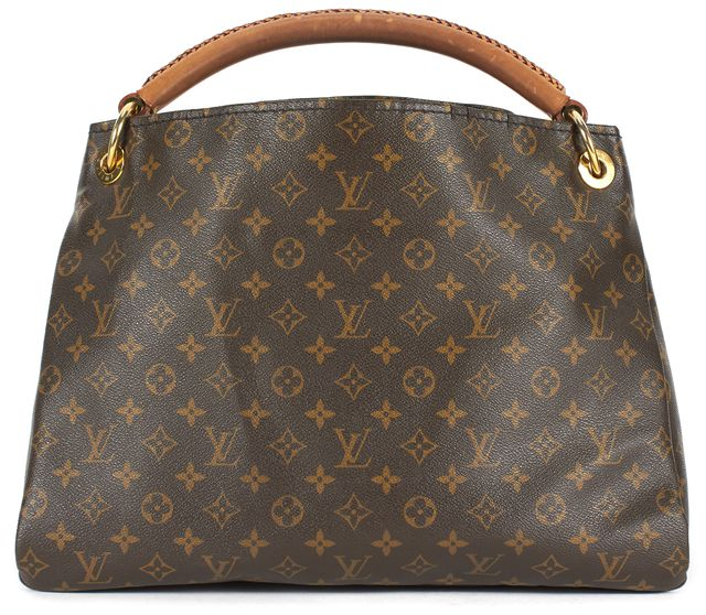 LOUIS VUITTON Brown Monogram Coated Canvas Artsy GM Hobo Bag