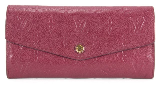 LOUIS VUITTON Purple Empreinte Leather Curieuse Removable Zip Pouch Wallet