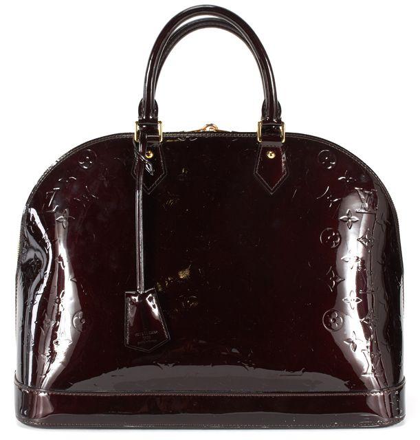 LOUIS VUITTON Amarante Purple Monogram Vernis Leather Alma GM Top Handle Bag