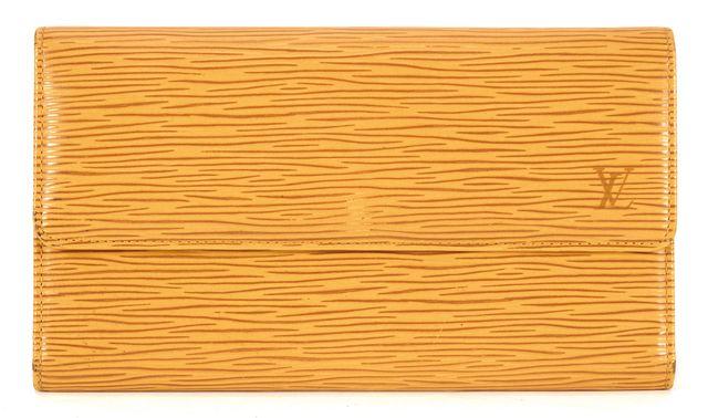 LOUIS VUITTON Yellow Textured Epi Leather Porte Tresor International Wallet