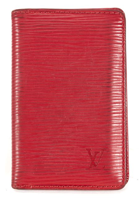 LOUIS VUITTON True Red Epi Leather Bifold Card Holder Wallet